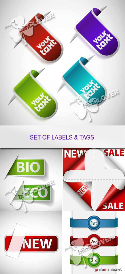 Set of labels and tags 0137