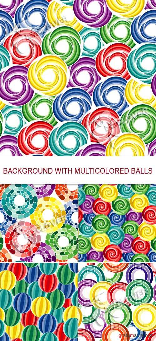 Background with multicolored balls 0137