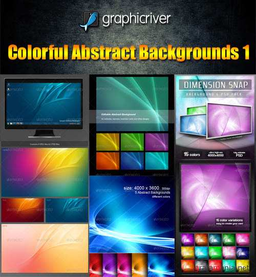GraphicRiver Colorful Abstract Backgrounds Pack - REUPLOAD