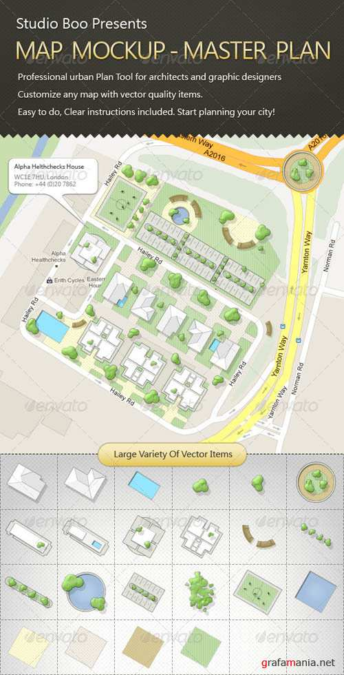 GraphicRiver Map Mock-up