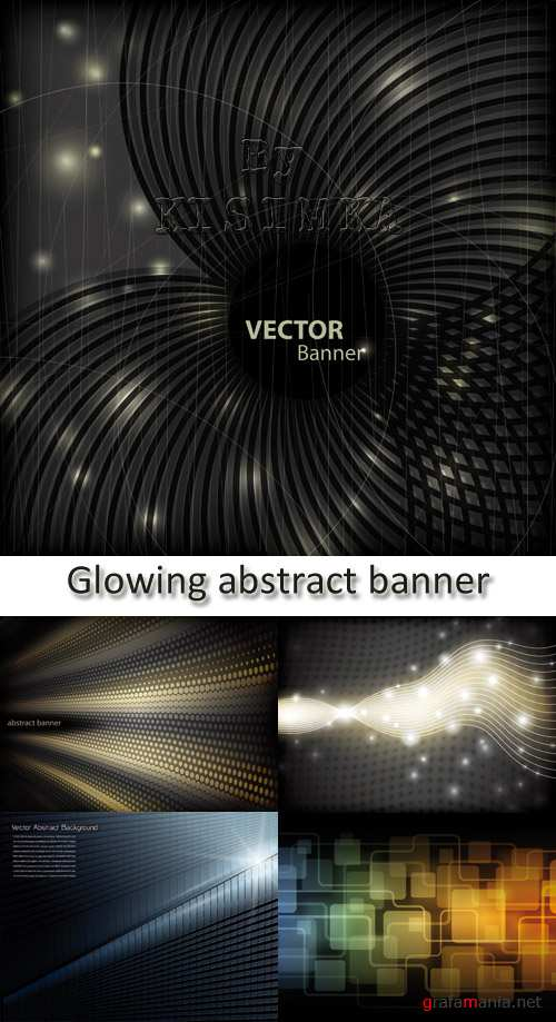 Stock: Glowing abstract banner