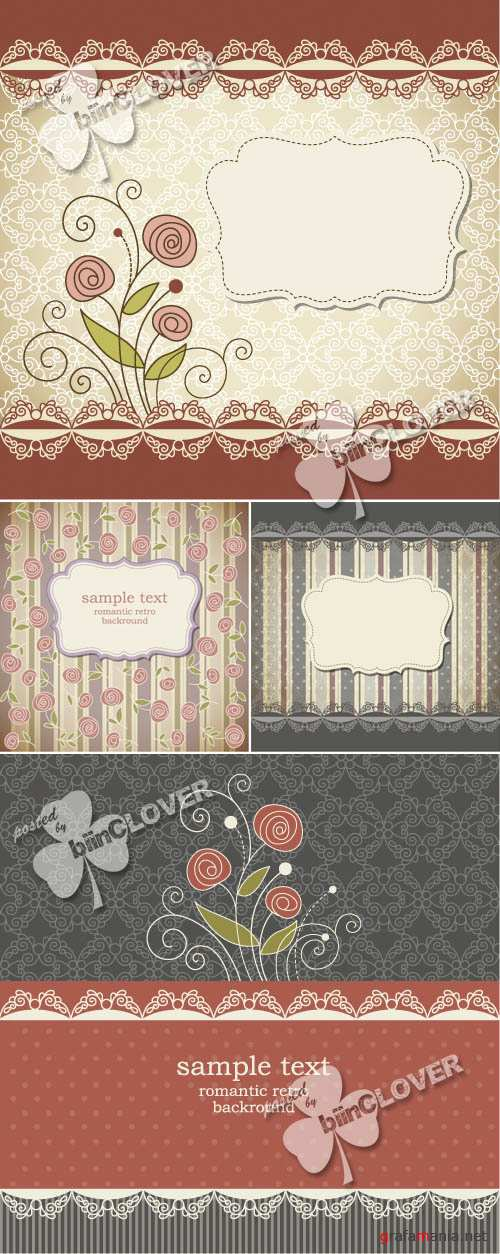 Retro background with flowers 0140