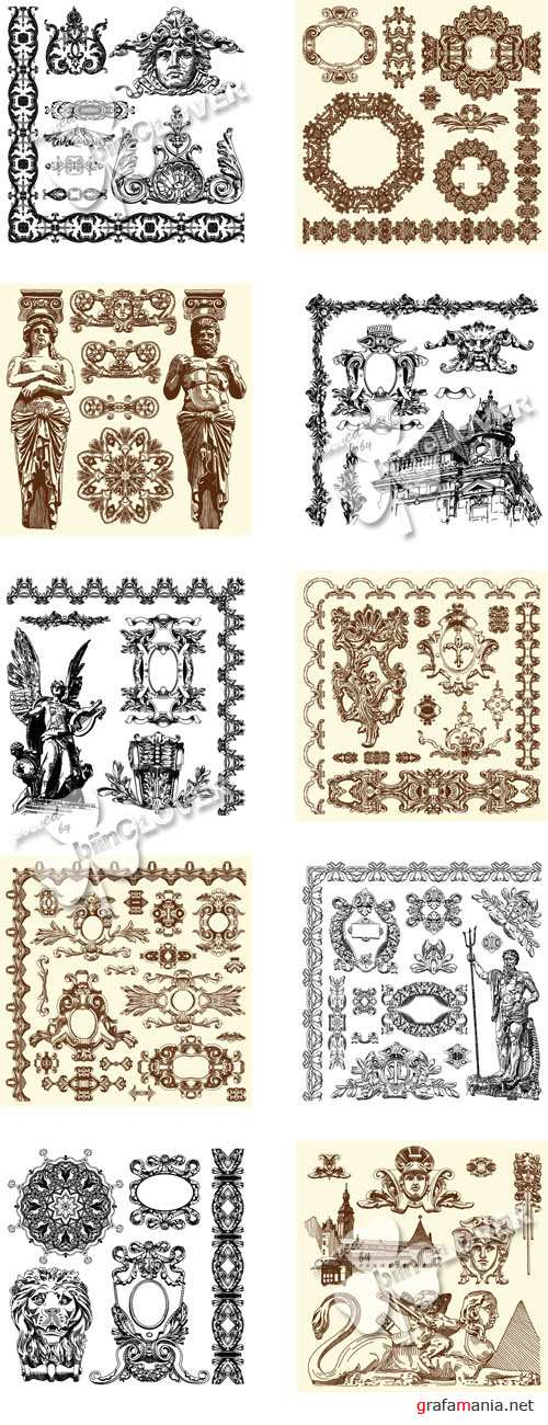 Decorative design elements 0140
