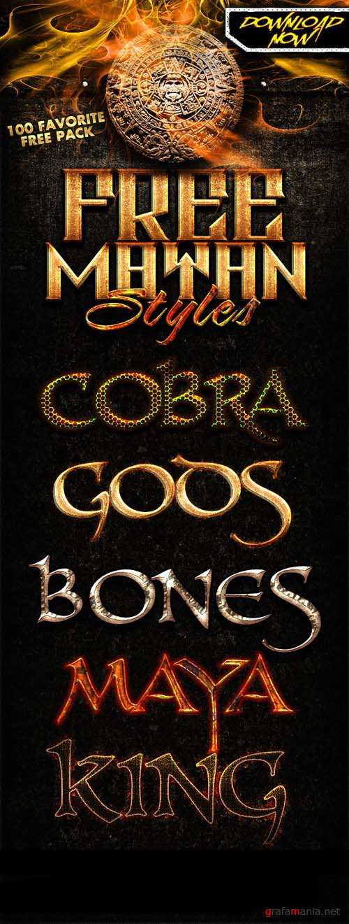 Mayan Text Styles for Photoshop