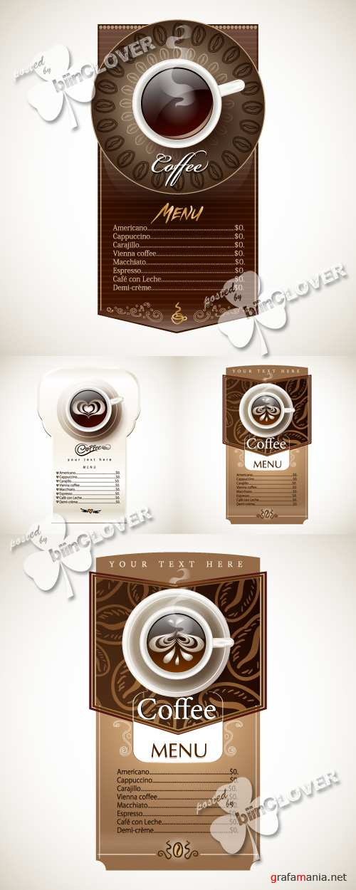 Design menu with cup of coffee 0146