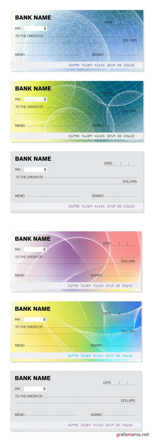 Bank Cheques Vector #2