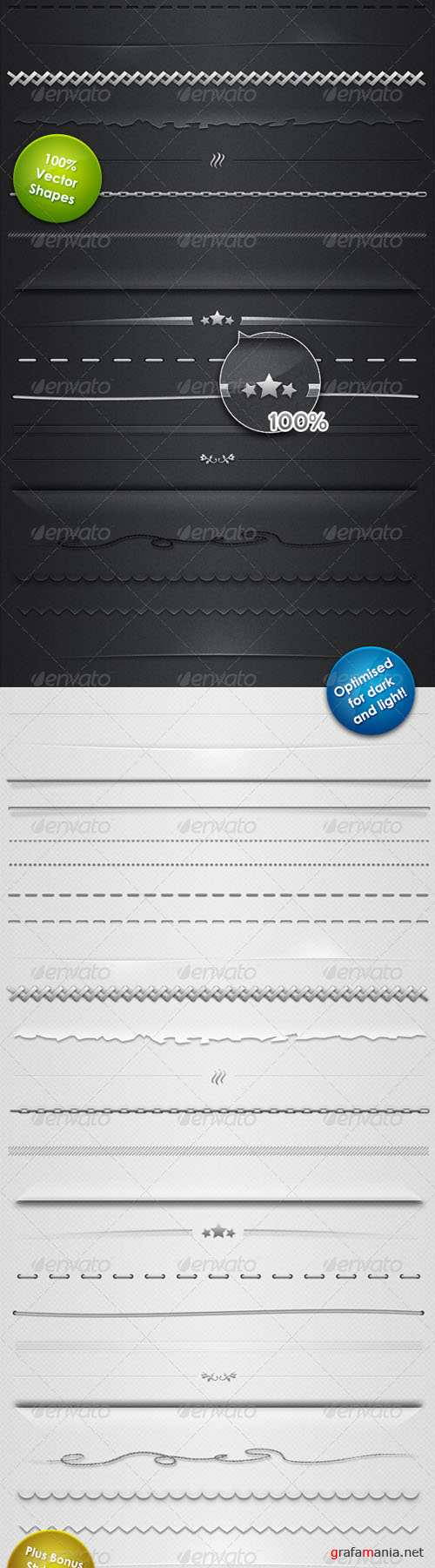 GraphicRiver 25 Horizontal Rules and Dividers - 100% Resizable