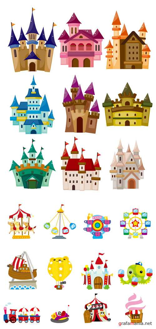 Amusement Park and Castles - Childrens Vector Pack #2