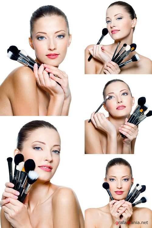 Woman with Cosmetic