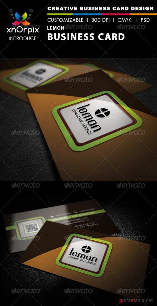 GraphicRiver Lemon Business Card