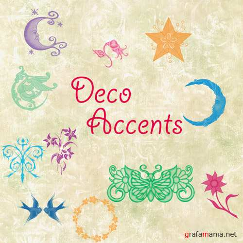 Deco Accents Brushes Set for Photoshop