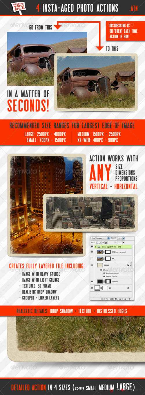GraphicRiver 4 Insta-aged Photo Actions