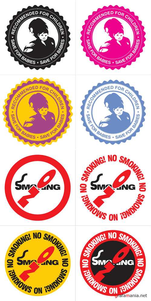 Save for Babies and NO Smoking Labels Set