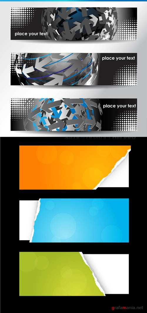 Creative Banners Vector Pack #12