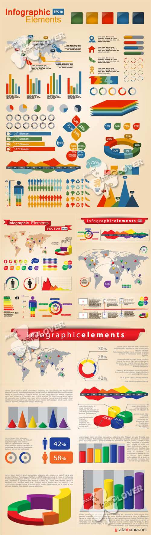 Set of infographic elements 0173