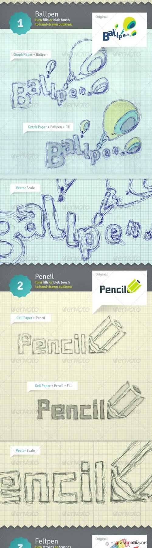 GraphicRiver Draft-O-Matic Sketchbook - Vector Actions Pack