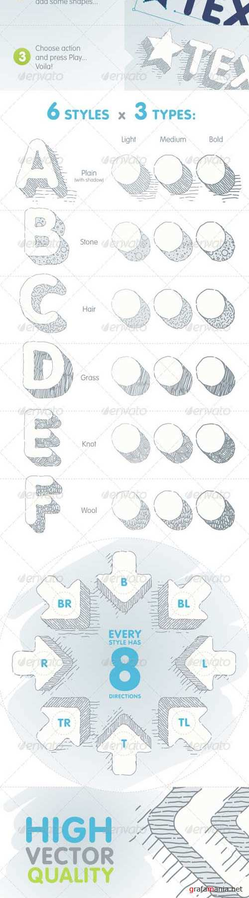 GraphicRiver 3D Sketcher - Vector Actions Pack