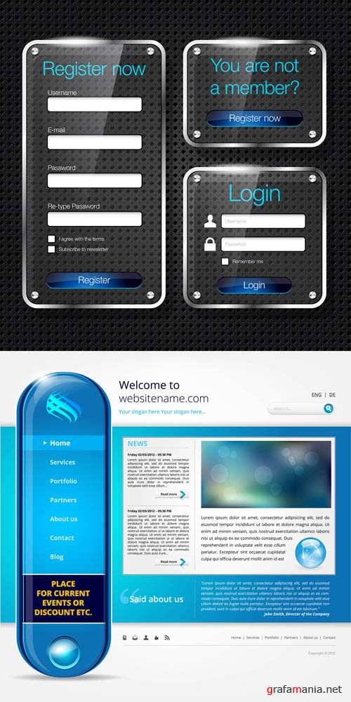 Interface Elements for the Site #73