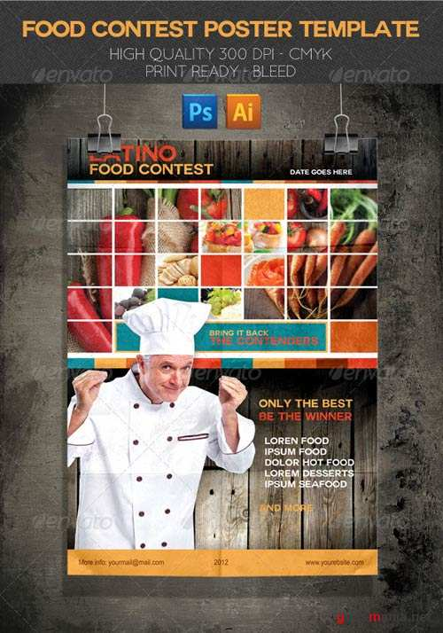 GraphicRiver Latino Food Contest Poster Template
