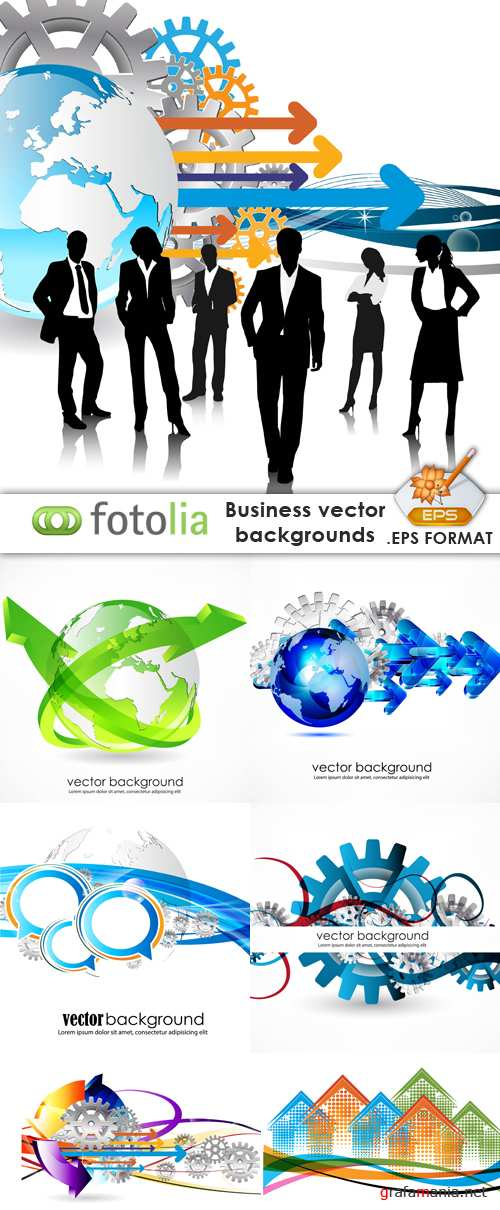 Business Vector Backgrounds - Fotolia 25xEPS
