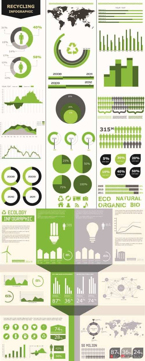 Ecology - Infographics Vector Pack #109