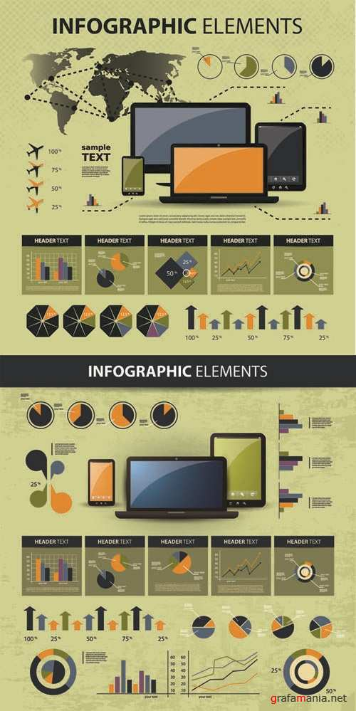 Infographics Vector Pack #110