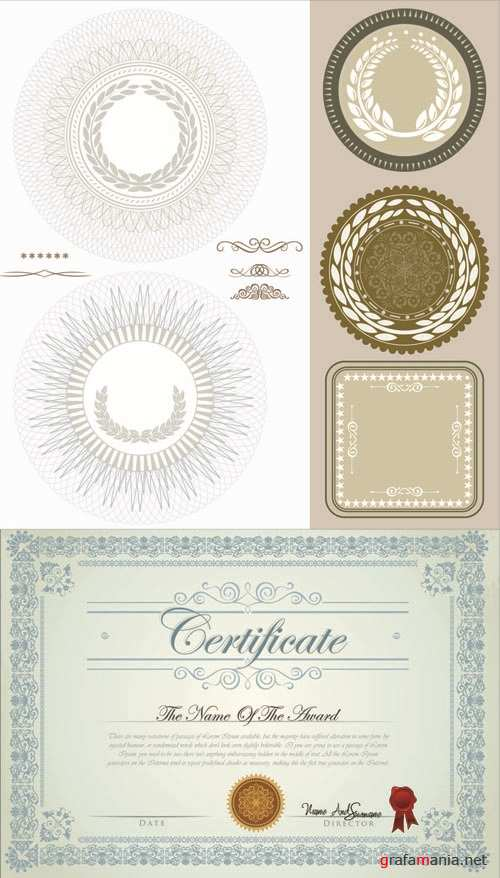 Guilloche and Certificate - Vector Set #2