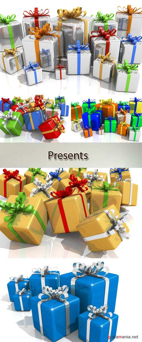 Stock Photo: Gifts and prizes in beautiful packing
