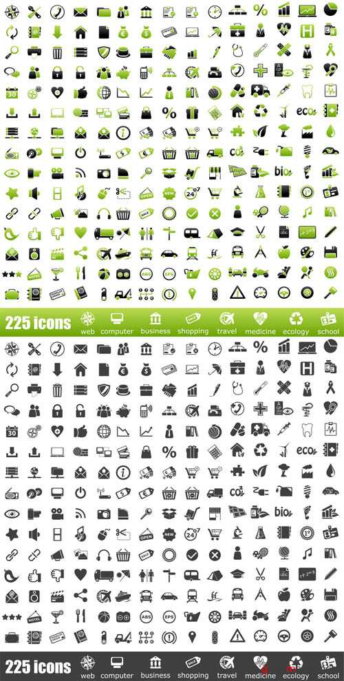 Mega Icons  Vector Collection  - 450 Elements'