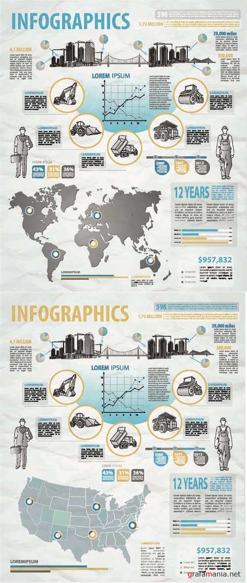 Infographics Vector Pack #113' EPS
