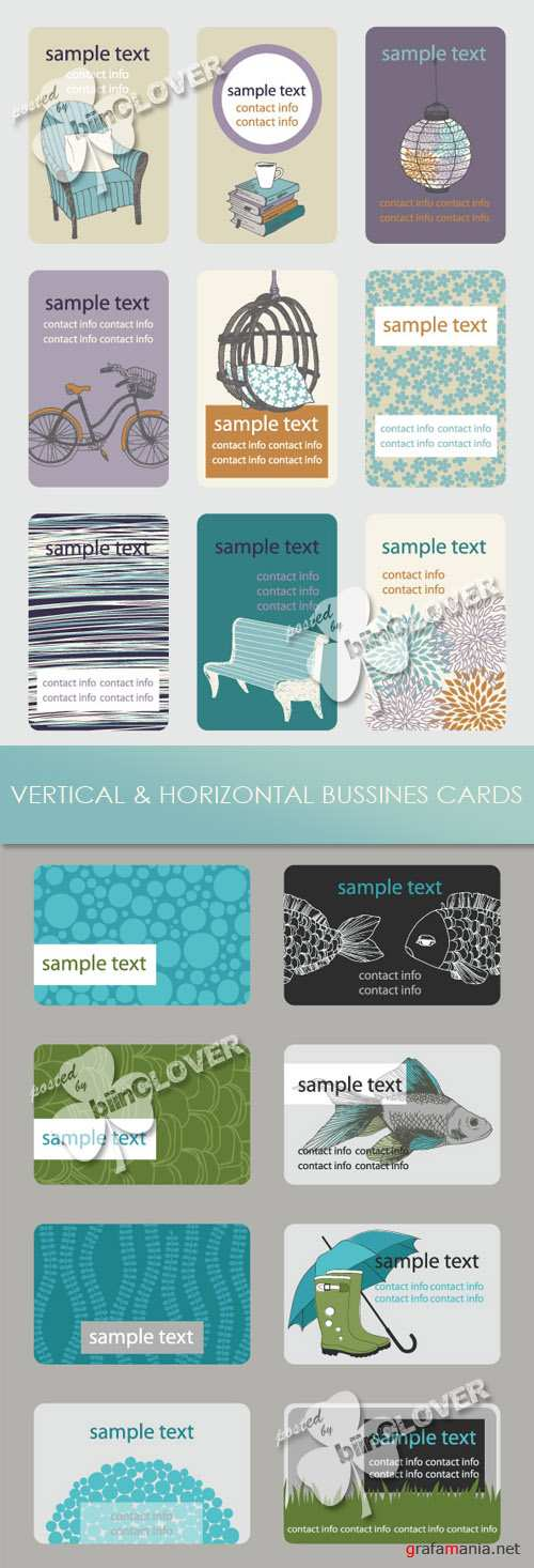 Vertical and horizontal business cards 0209