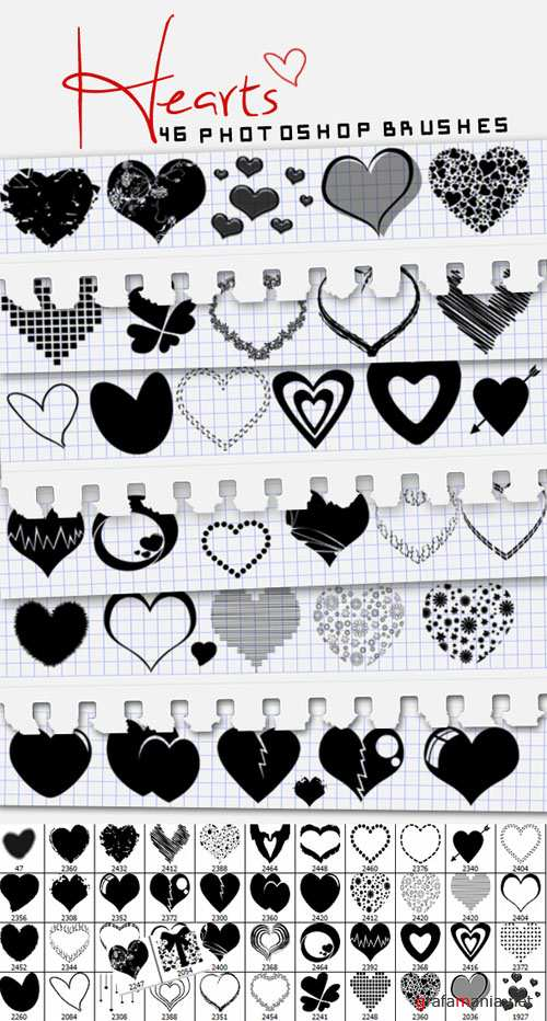 Brushes for Photoshop - Hearts