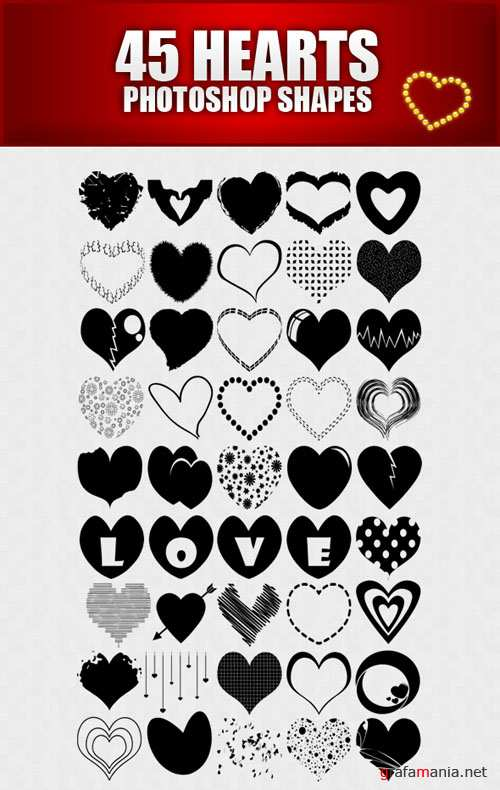 Shapes for Photoshop - Hearts