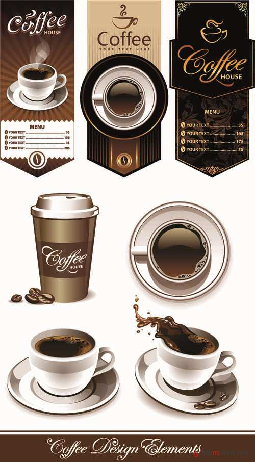 Coffee and Cafe - Vector Set #3