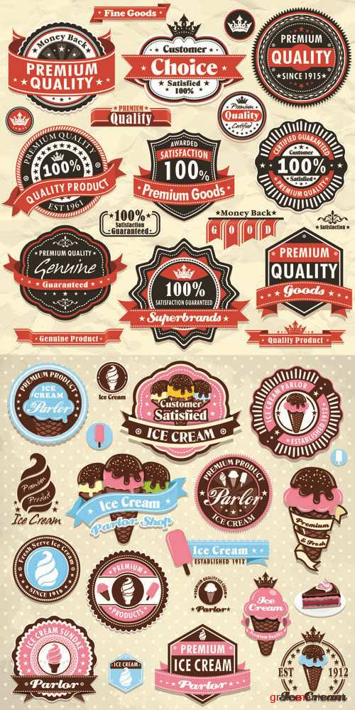 Labels Vector Collection #91