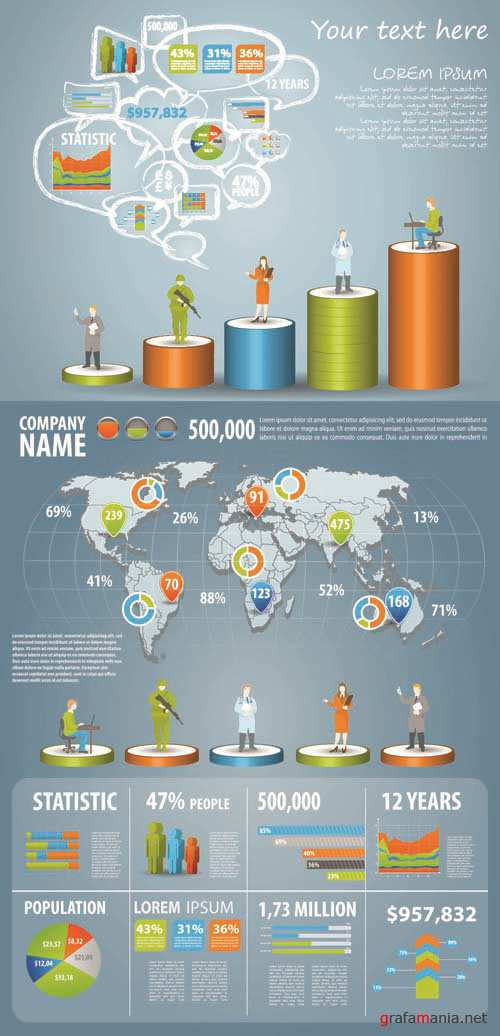 Infographics Vector Pack #171