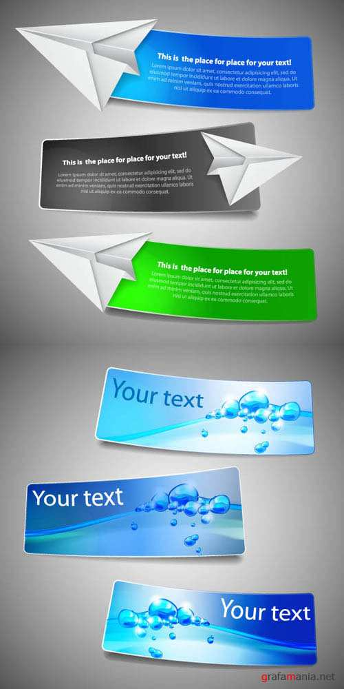 Creative Banners Vector Pack #40