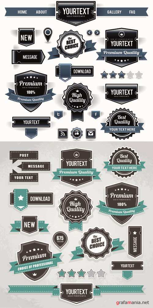 Labels Vector Collection #89