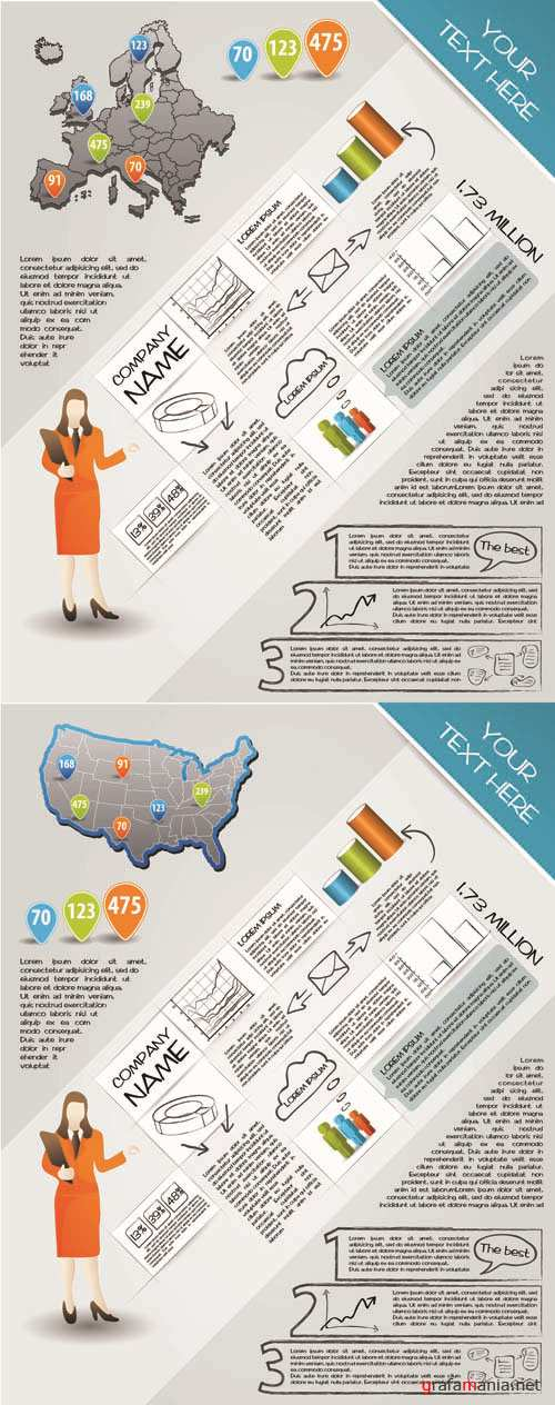 Infographics Vector Pack #172