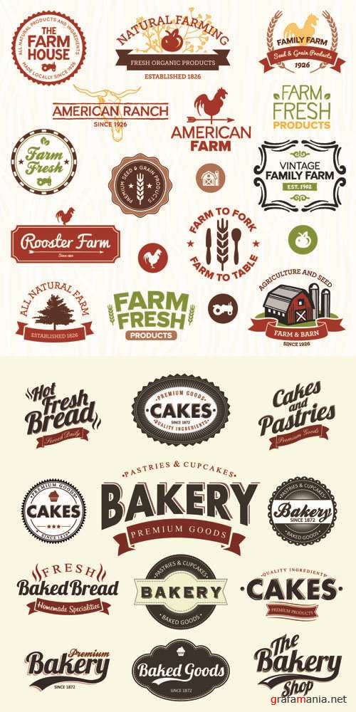 Labels Vector Collection #90