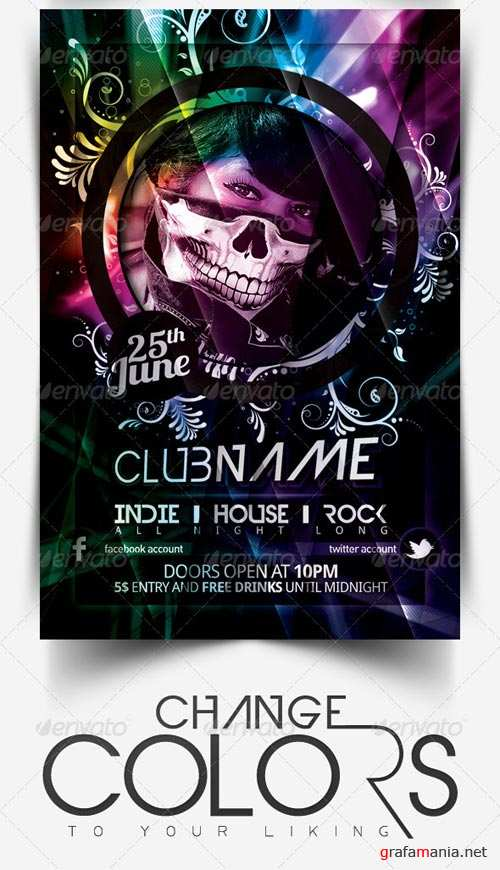 GraphicRiver Hot Summer Party Flyer