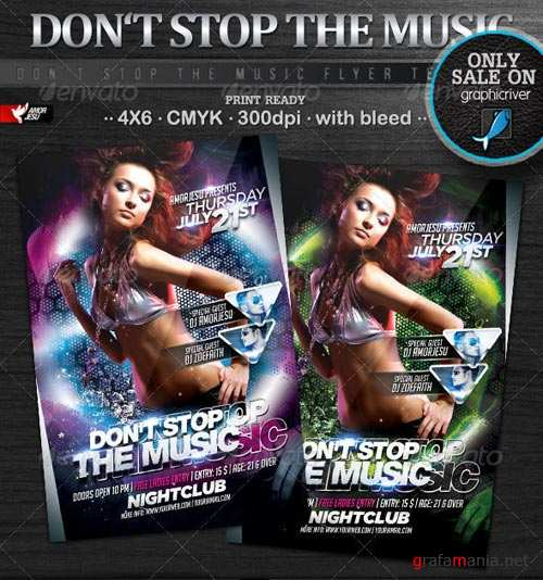 GraphicRiver Dont Stop The Music Flyer Template