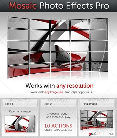 GraphicRiver Mosaic Photo Effects Pro