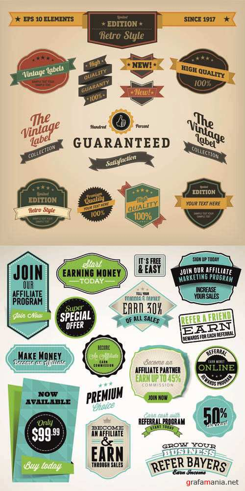 Labels Vector Collection #96