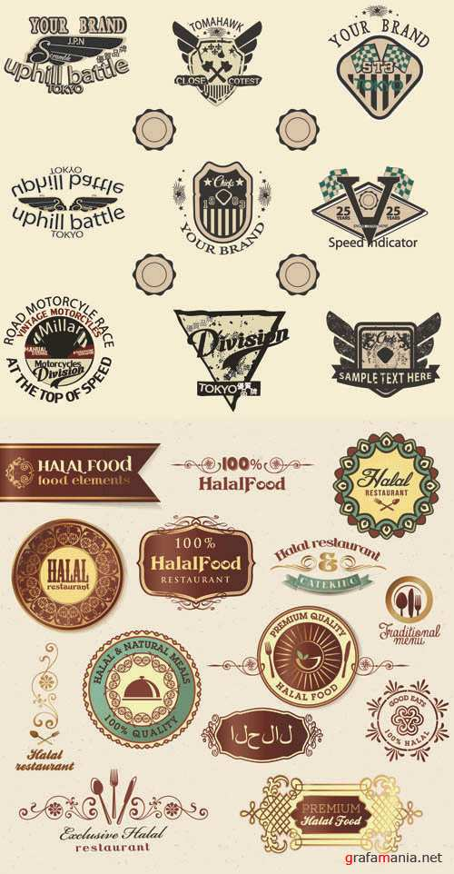 Labels Vector Collection #92