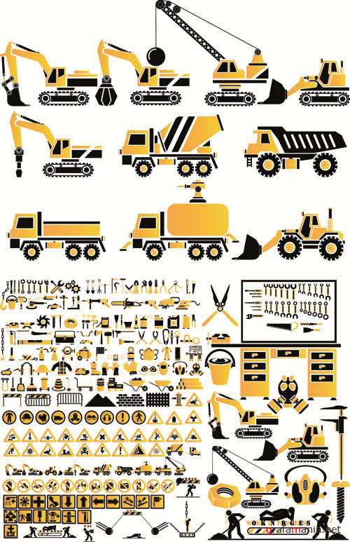 Construction Equipment and Elements - Mega Vector Collection