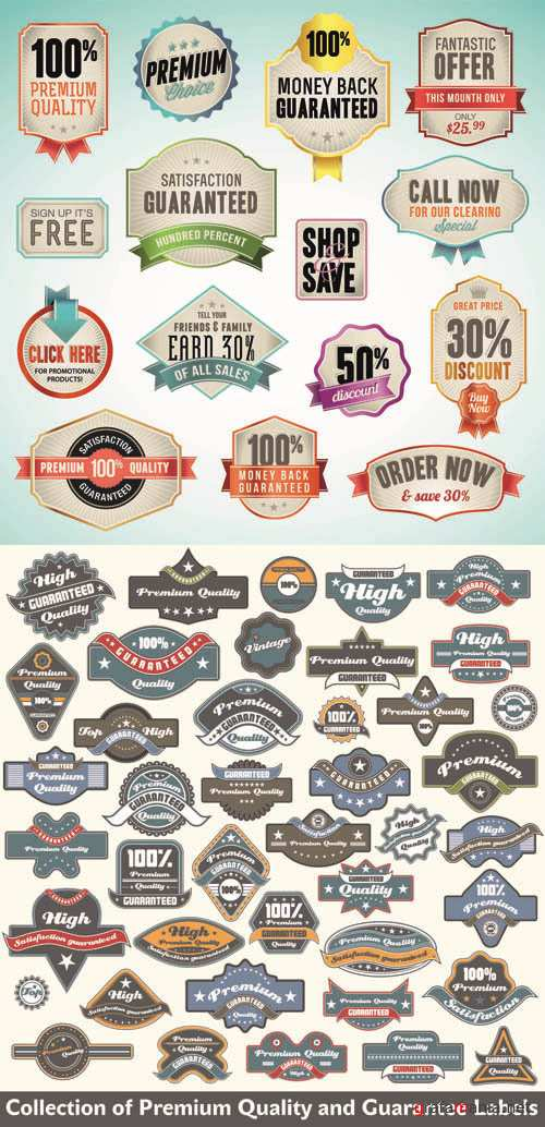 Labels Vector Collection #95