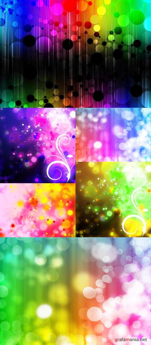 Colored Rays Backgrounds