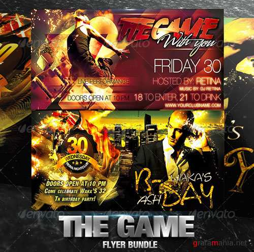 GraphicRiver - The Game Flyer Bundle 2557109