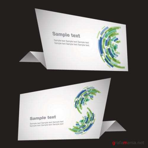 Sense of science and technology origami - vector